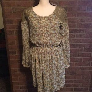 NWT CHARMING CHARLIE DRESS SZS LACE INSET SHOULDER